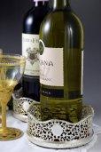 画像1: 純銀製(925) 透かし細工が見事な ワインボトルコースター 2点セット (1)
