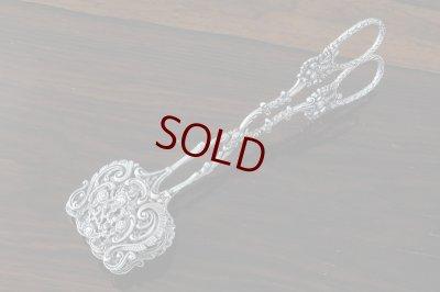 画像1:  純銀製(835) ドイツ ロココ薔薇の透かし細工 美装飾 ペイストリートング