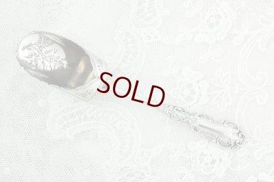 画像2: 純銀製(925)1899年 ロココハンドル スコップ型ティーキャディースプーン