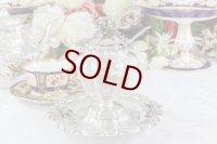 純銀製(950)フランス製 ファーストミネルヴァ お花の摘み ロココスタイル 貴族の紋章入り キャビア/ジャムポット