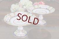 アンティーク陶磁器 1871年 コープランド ルイーズ王女ご成婚記念 ペア コンポート/ケーキスタンド/タッツア・/コンポート