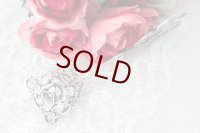 アンティークシルバー 純銀製(800) クリストフ ウィドマン 大薔薇 透かし細工 ペイストリートング
