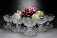 アンティーククリスタルグラス c.1930 ハンドカット アイスクリームグラス 2客セット