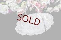 アンティークシルバー ヴィクトリアン シルバープレート 美彫 薔薇お花とスクロール、ケーキバスケット