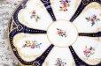 画像13: アンティーク陶磁器 コールポート金彩、コバルトブルー 総手描き イングリッシュガーデンフラワー トリオセット
