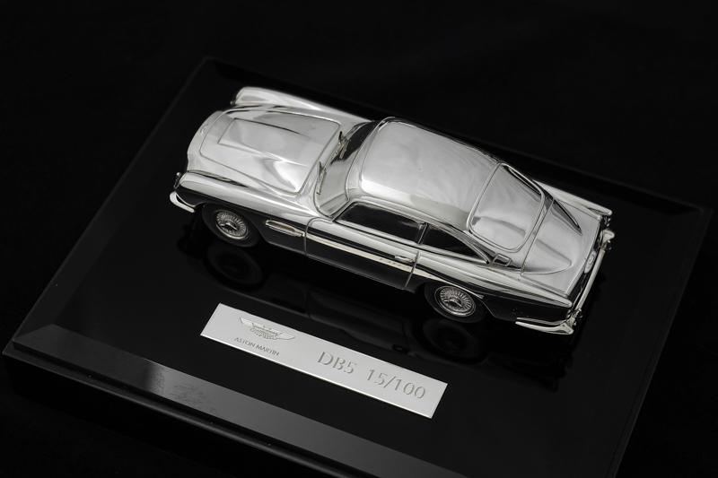 画像1: ヴィンテージシルバー、純銀製(925) 限定品 激レア アストンマーティン DB5 007